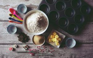 Vajalikud vahendid muhvinite küpsetamiseks
