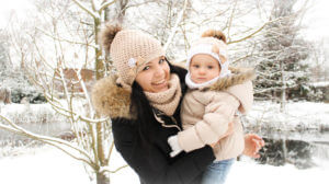 Kadi Salu koos tütrega