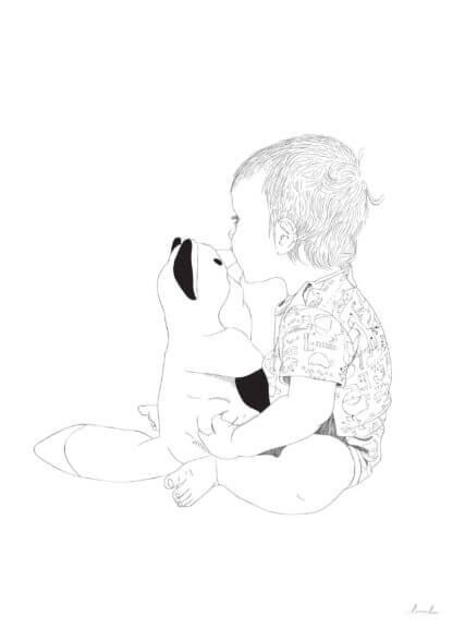 laps kassiga graafiline joonistus