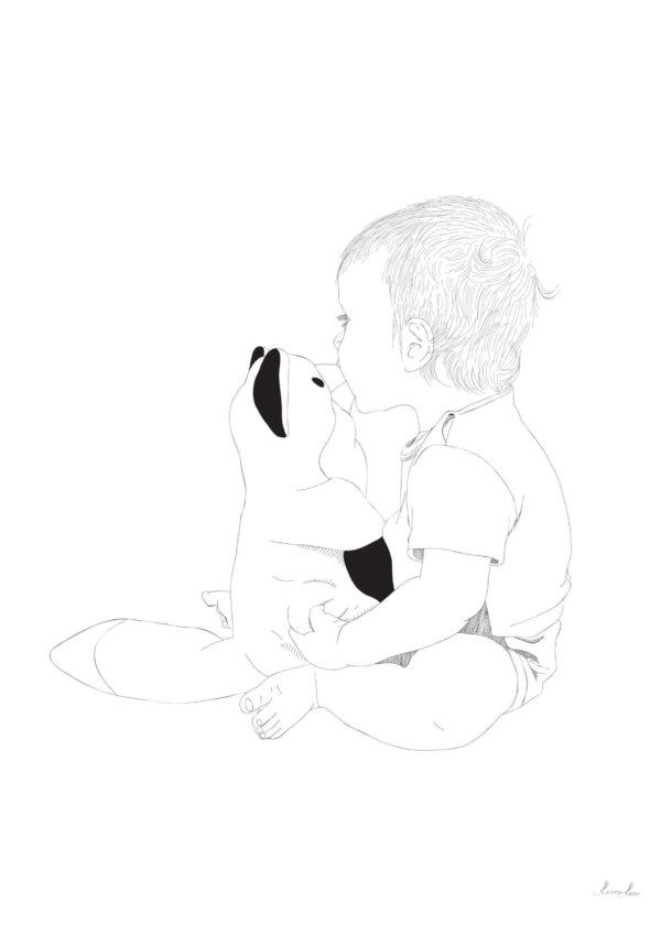 Laps kassiga - graafiline joonistus