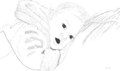 Pikutav laps ja graafiline joonistus sellest