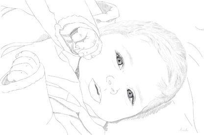Beebi portree ja graafiline joonistus sellest