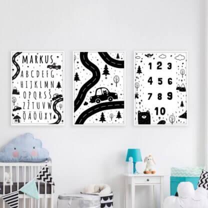 must-valge postrite komplekt