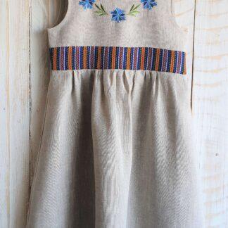 Linane laste kleit VIRU-NIGULA MUSTRIGA