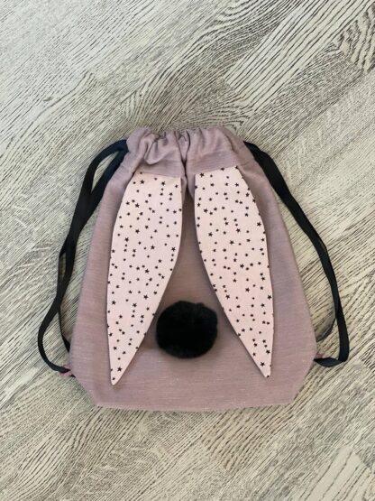 Roosa kott tähekestega kõrvadega