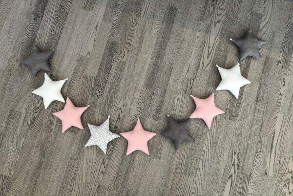 Tähekett tähed heleroosa