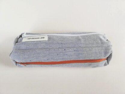 Helesinine teksariidest kott valge, tumepruuni, tumesinise lukuga