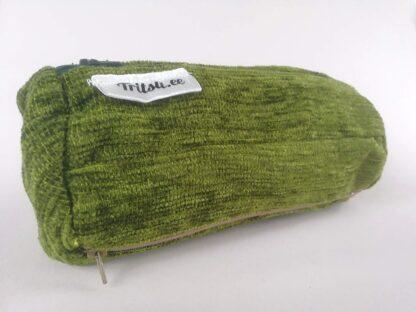Roheline suur kott tumerohelise, tumesinise, beezi lukuga