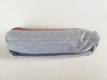 Teksariidest kott valge, tumepruuni, tumesinise lukuga