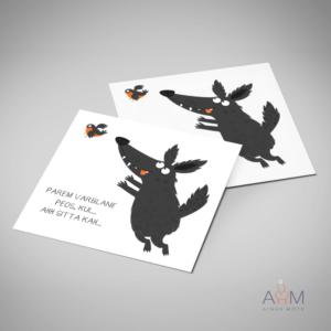 Postkaart parem varblane pihus