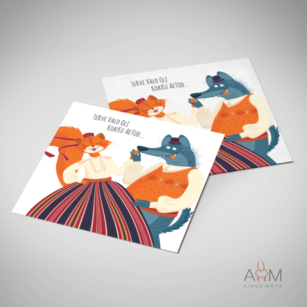 Postkaart tantsupidu